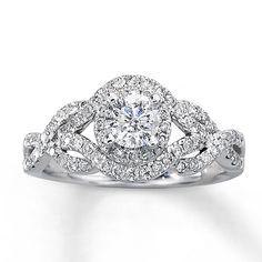 Engagement Ring Cushion Cut White Gold 47
