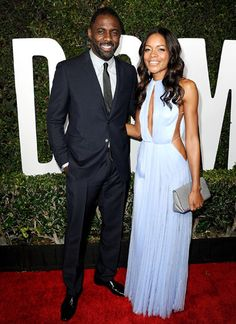 """Long Walk"" on Carpet Idris Elba and Naomie Harris beamed at the L.A. premiere of their new biopic Mandela: Long Walk To Freedom Nov. 11."