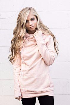 *Exclusive DoubleHood™ Sweatshirt - Blush