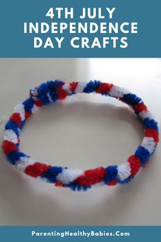 Trendy Easy Art Projects For Kids Preschool Simple Pipe Cleaners Ideas 4th July Crafts, Fourth Of July Crafts For Kids, Patriotic Crafts, Summer Crafts For Toddlers, Summer Camp Crafts, Camping Crafts, Toddler Crafts, Preschool Projects, Daycare Crafts