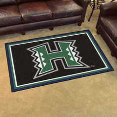 University of Hawaii 4x6 Rug