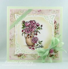 arranging roses by lotsofstamps - Cards and Paper Crafts at Splitcoaststampers