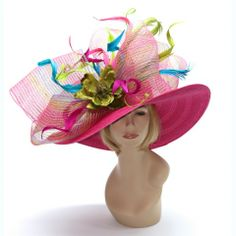 Cici Vinzetta Millinery Kentucky Derby Hats or Easter Hats at www.ChurchDerbyHats.com 1-855-Hat-Lady  (Vinzetta Hats are one of a kind custom hats. They are not mass produced unless stated in the description on the website. No one will have YOUR hat! )