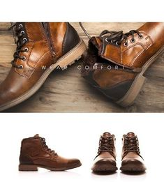 28f6ba2708ad3a XPER Autumn Winter Fashion Men Boots Vintage Style Casual Men Shoes Lace-Up  Warm Plush