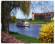 Frankenmuth Riverboat by Gene Tatroe Michigan Tourism, Michigan Travel, Places To See, Places Ive Been, Frankenmuth Michigan, Old Victorian Homes, Buy Prints, Great Lakes, Best Memories