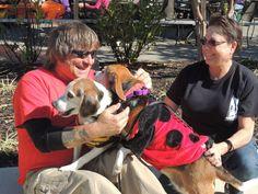 SPCA Volunteers Boyd & Leslie with SPCA adoptables Snoopy & Marcie  aacspca.org