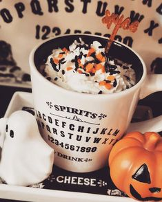 Summoning the coffee spirits 🧟♀️ ☕=😇 halloween goals Halloween Movie Night, Holidays Halloween, Halloween Treats, Happy Halloween, Halloween Decorations, Halloween Chocolate, Halloween Books, Spooky Halloween, Autumn Cozy