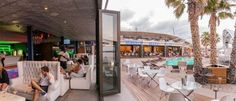 The Lounge Club at Shimmy Beach Club with ocean views, leading out onto the private beach and Heineken Deck Whiskey Room, V&a Waterfront, Lounge Club, Beach Club, Sun Lounger, Gazebo, Interior Decorating, Deck, Restaurant