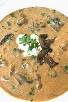 To-Die-For Hungarian Mushroom Soup - It really is that YUMMY!  I can make this keto.