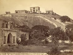 Photograph of a view of Maula Ali Hill near Hyderabad. This print was by an unknown photographer in the and is part of the Temple C. Rare Photos, Vintage Photographs, Old Photos, St John's Church, History Of India, Vintage India, Grand Bazaar, Public Garden, Lost City