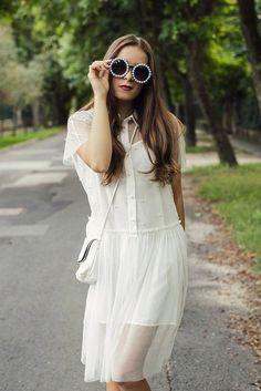 iEmma Fashion: EXTRAVAGANT DESIGNER WOMENS PEARL ROUND FASHION SUNGLASSES 8527