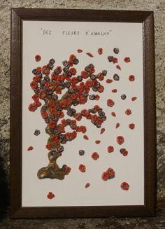 """"""" les Fleurs d'Awalky"""" tableau en pâte polymère Cernit  . BéaPatenkor"""