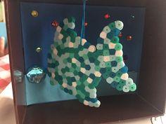 made with the kiddo - aquarium diorama