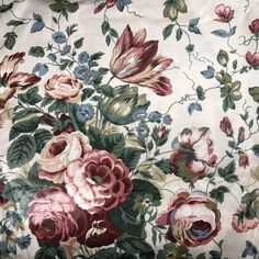 VTG #Upholstery Waverly Belle Haven #Fabric #Floral Roses Cotton By The Yard | Crafts, Fabric | eBay!