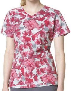 Style Code: (CA-C12207FG) Stand out among the rest with this Carhartt Floral Grace fashion scrub top. This is made from brushed poplin and 100% cotton for your maximum comfort. It has several pockets where you can keep accessories for you duty needs. This stylish scrub top is available in sizes XS to 3XL, and the center back length for size medium is 27.75 inches.