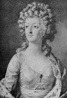 1792 Black and white print from Marie-Antoinette by Alexander Kucharski