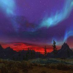 Boreal night sky