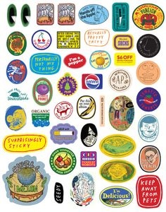 Subversive fruit stickers