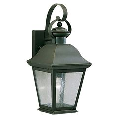 Kichler Lighting Kichler 16-1/2-Inch Outdoor Wall Light with Clear Seeded Glass | 9708OZ | Destination Lighting