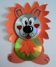 cd animal crafts for kids Kids Crafts, Animal Crafts For Kids, New Crafts, Preschool Crafts, Art For Kids, Arts And Crafts, Paper Crafts, Kids Fun, Craft Activities