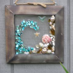 Beach Glass & Sea Shell Wave by SeasidesbyDesign on Etsy