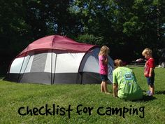 A detailed Checklist for Camping. Includes everything you will need for a camp-out.