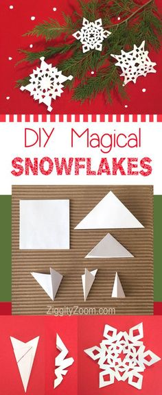 perfect winter indoor kids art activity- make snowflakes with your kids #craft #art #kids #snowflakes
