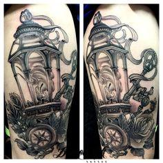 neo traditional black and grey Neo Traditional Roses, Traditional Lanterns, Neo Traditional Tattoo, Modern Primitives, Believe Tattoos, Lantern Tattoo, Light Tattoo, Moth Tattoo, Tattoo Outline