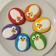 Colourful penguins by Butter Home Bakery Stone Crafts, Rock Crafts, Cute Crafts, Diy Crafts For Kids, Pebble Painting, Pebble Art, Stone Painting, Rock Painting Ideas Easy, Rock Painting Designs