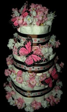 Mini Diaper Cakes | Repinned via Debbie Cross-Ellis