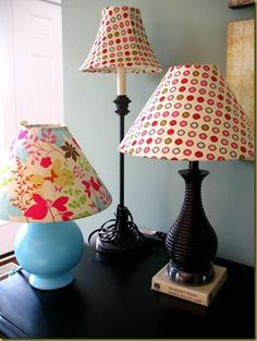 Love the lamps and the shades