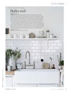 Butler sink Best White Paint, White Paint Colors, Kitchen Paint Colors, Interior Walls, Home Interior Design, Kitchen Notes, Kitchen Ideas, Butler Sink, Living Etc