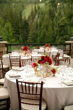 Red, Pink and Gold Wedding at the St. Regis Deer Valley. Published by Fab You Bliss Photo by Pepper Nix