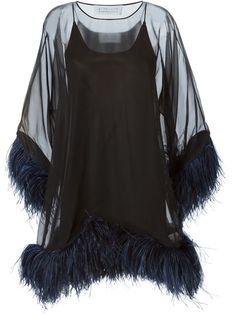 Shop Gianluca Capannolo feather trimmed sheer dress in Boutique Antonia from the world's best independent boutiques at farfetch.com. Shop 300 boutiques at one address.