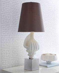 White Shell Lamp by Jonathan Adler at Horchow.  What a beautiful, simple and elegant image of the beach!