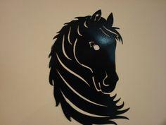 Beautiful Steel Horse Head  Metal Art  for by MinuteManMetalWorks, $20.00