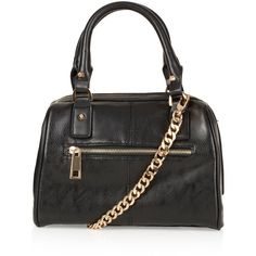 TOPSHOP Medium Flat Chain Bowling Bag ($70) ❤ liked on Polyvore