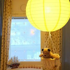 Baddington bear, balloon lamp