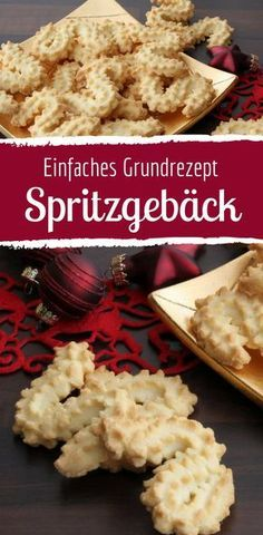 Mit unserem Spritzgebäck-Grundrezept kannst du die kleinen Leckereien ganz einf… With our shortbread biscuit recipe you can easily make the little treats yourself. They just belong to Christmas! Shortbread Biscuits, Shortbread Recipes, Easy Biscuit Recipe, Easy Cookie Recipes, Pastry Recipes, Cake Recipes, Best Chocolate Cake, Food Cakes, Easy Meals