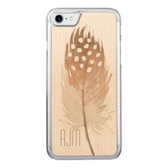 Feather Watercolor Bohemian Tribal Carved iPhone 7 Case