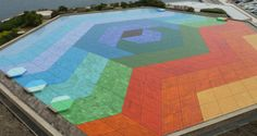 Hexa Grace by Victor Vasarely on roof of Auditorium Rainier III, Monte Carlo.  January 2014 #Rainbow #worldcolors