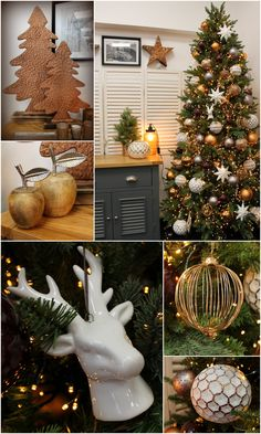 copper grey and white a key trend in christmas decor for 2016 - Christmas Decorating Themes