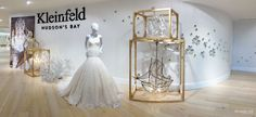 Kleinfeld Bridal Boutique Canada Hudson's Bay Christopher Luk Photography 2014 White Wedding Dress Gown Ines Di Santo Mannequin Display Lobby Entrance Say Yes To The Dress Downtown Toronto