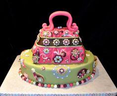 40th Birthday Cake - Cupcakes Pink Vera Bradley Handbag