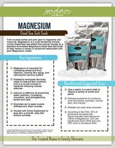 Jordan Essentials Magnesium Dead Sea Salt Soak // #saltsoak #healthcare #muscleache #musclerelief #minerals #eczemarelief #migrainerelief #insomniarelief #psoriasis #musclecramps #natural #parabenfree #madeinusa #spa #spaathome Eczema Relief, Migraine Relief, Topical Magnesium, Men And Babies, Healthy Skin Care, Healthy Life, Dead Sea Salt, Bath And Body, Health And Wellness