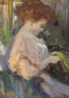 The Dressmaker, by Ulisse Caputo (Italian, 1872-1948).