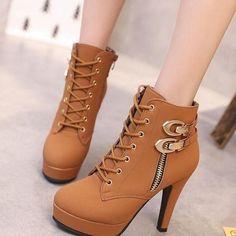 High heel boots waterproof platform - #Boots #Heel #High #Platform #waterproof Brown Knee High Boots, High Heel Boots, Brown Boots, Shoes Heels Boots, Heeled Boots, Black Boots, Womens Fall Boots, Buy Boots, Stylish Boots