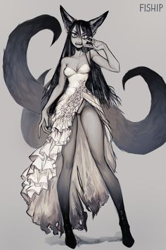 See more 'Monster Girls' images on Know Your Meme! Fantasy Character Design, Character Design Inspiration, Character Art, Neko, Female Monster, Monster Girl, Anime Monsters, Creature Drawings, Creature Concept Art