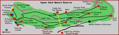 From Wikiwand: Overview map of the Upper Rock Nature Reserve