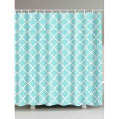 Geometric Print Unique Shower Curtain For Bathroom
